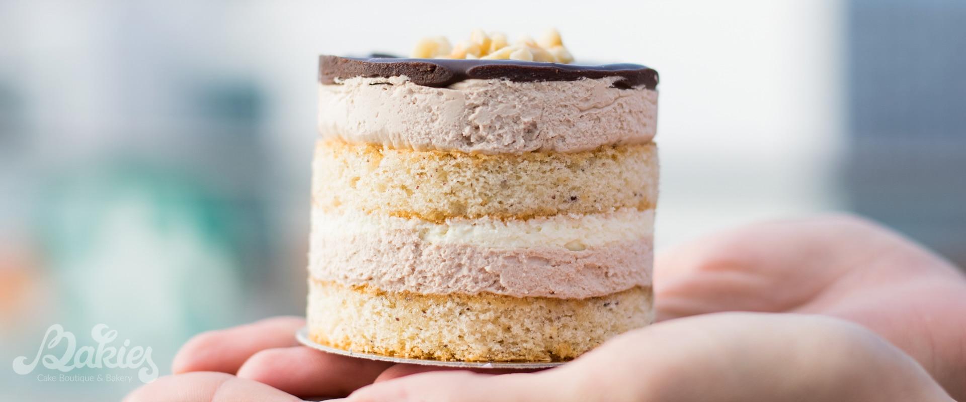 Торта с лешников блат и цитрусов ганаш
